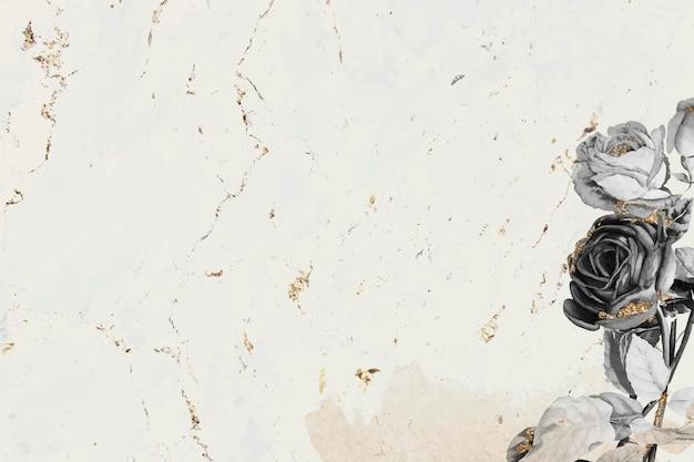 Vecteur de papier peint chatoyant floral blanc