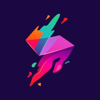 Vecteur de peinture couleur flash