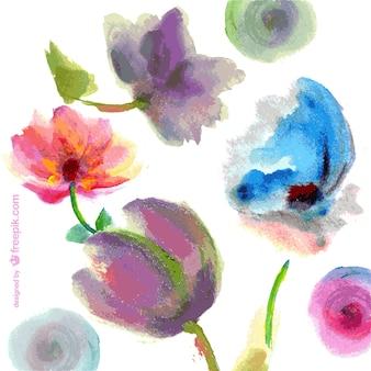 Vecteur peinture florale fond