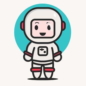 Un vecteur de personnage mignon astronaute