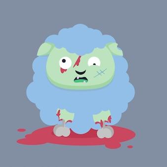 Vecteur de personnage zombie
