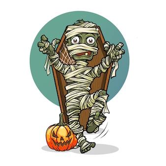 Vecteur de personnages d'halloween