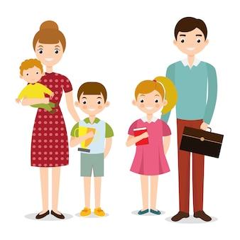 Vecteur personnes famille heureuse