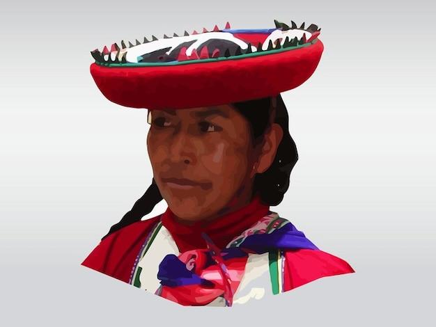 Vecteur photo de femme péruvienne
