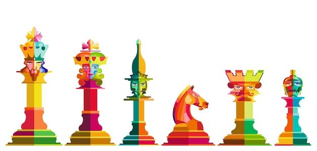 Vecteur de pièce d'échecs