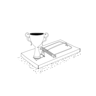 Vecteur de piège de trophée réussi