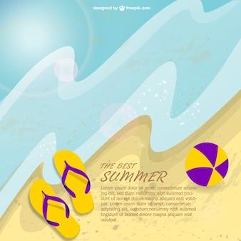 Vecteur de plage d'été gratuit