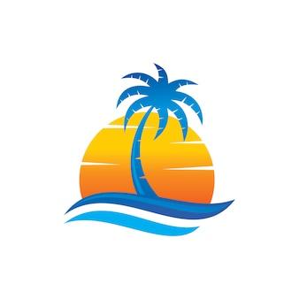 Vecteur de plage logo