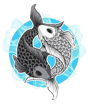 Vecteur de poisson koi