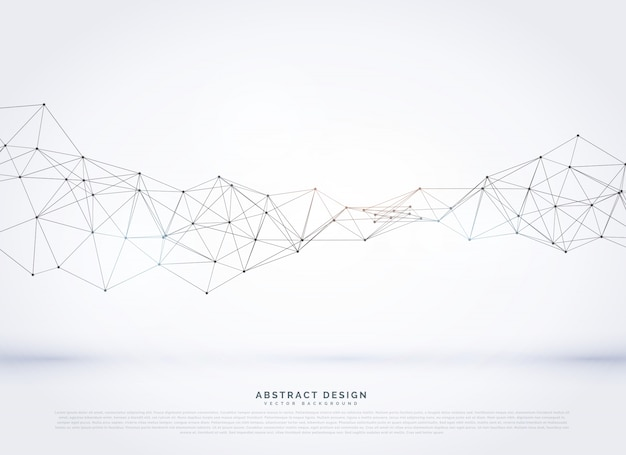 Vecteur polygonal abstract network wireframe background
