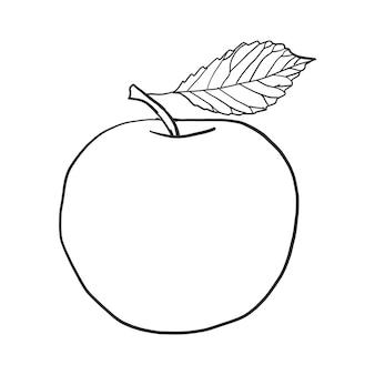 Vecteur de pomme de doodle