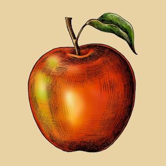Vecteur de pomme rouge mûre fraîche