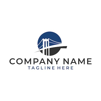 Vecteur de pont de logo de luxe et moderne
