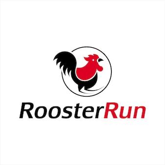 Vecteur de poulet simple logo coq dessin animé