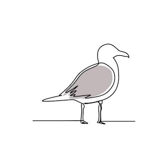 Vecteur premium d'art en ligne continue d'oiseau