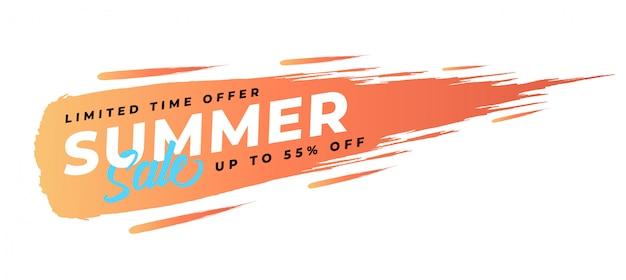 Vecteur premium bannière de vente d'été