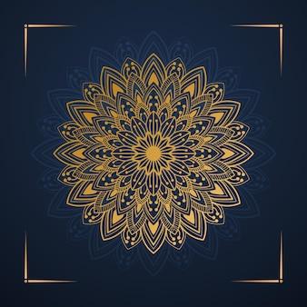 Vecteur premium de conception de mandala floral