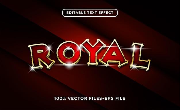 Vecteur premium d'effet de texte modifiable royal
