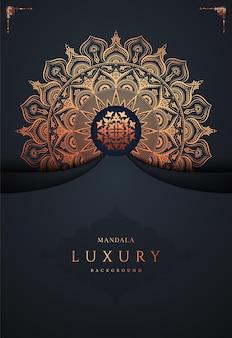 Vecteur premium de fond de mandala doré de luxe