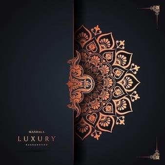 Vecteur premium de fond de mandala de luxe