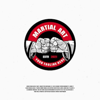 Vecteur premium illustration logo art martial