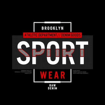 Vecteur premium illustration de typographie de vêtements de sport