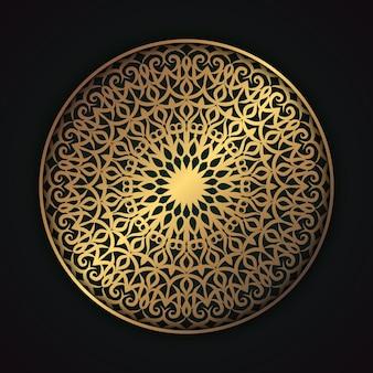 Vecteur premium de mandala en tissu arabesque floral