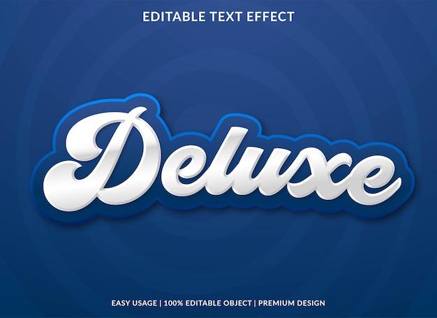 Vecteur premium de modèle d'effet de texte modifiable de luxe