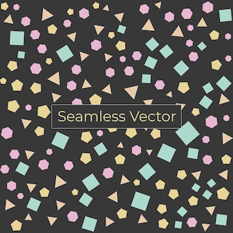 Vecteur premium de modèle de formes géométriques minimales sans soudure