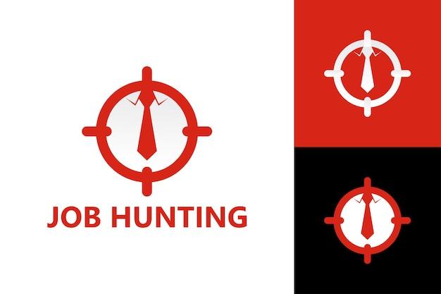 Vecteur premium de modèle de logo cible de recherche d'emploi