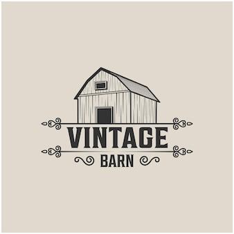 Vecteur premium de signe abstrait de grange vintage