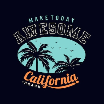 Vecteur premium tropical de plage de californie