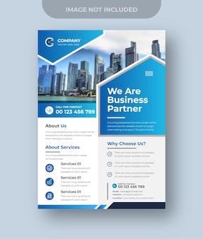 Vecteur de prime d'agence de marketing numérique de conception de flyer d'entreprise