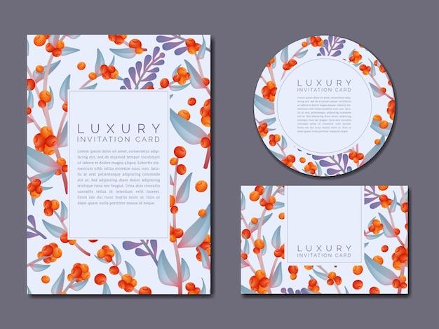 Vecteur de printemps ou d'été motif de dessin floral carte d'invitation de luxe ou affiche vert néon