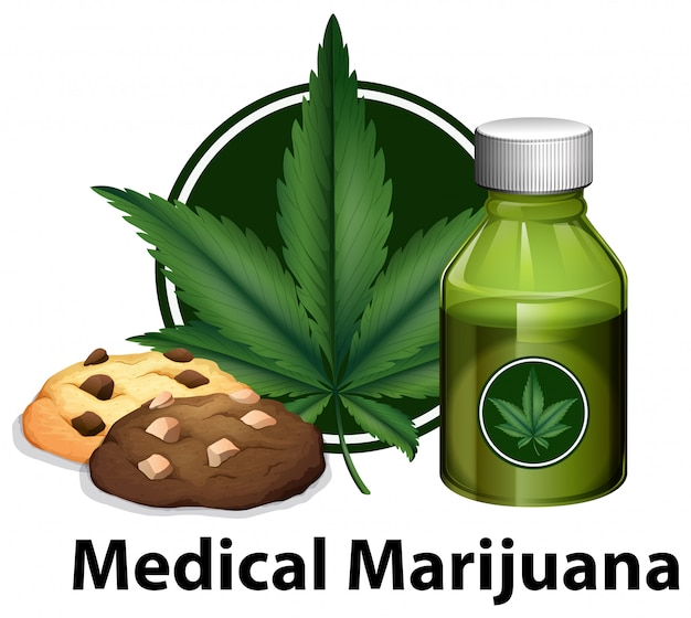 Un vecteur de produit de marijuana