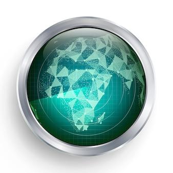 Vecteur radar. afrique. radar écran militaire abstrait