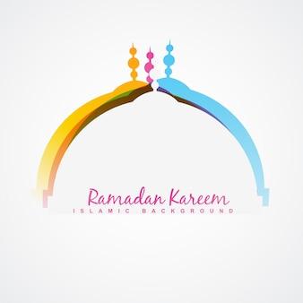Vecteur ramadan festival design fond