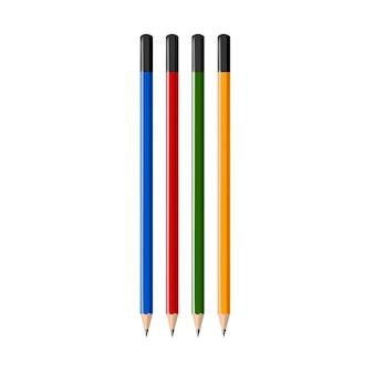 Vecteur realiste colorf pencil