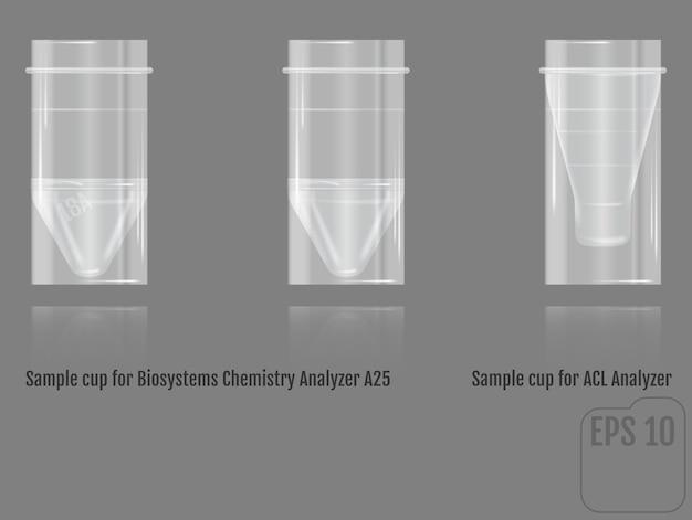 Vecteur réaliste coupe d'échantillons pour la chimie des biosystèmes analyseur a2