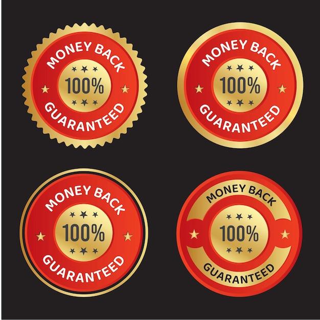 Le vecteur de remboursement garanti fait confiance au logo de l'insigne