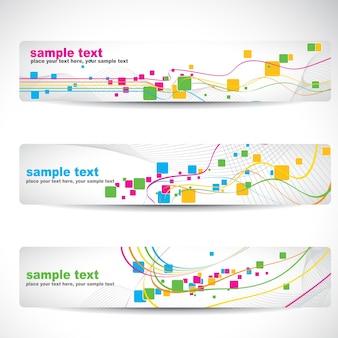 Vecteur résumé conception de bannière colorée