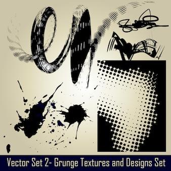 Vecteur résumé grunge set elements and design