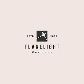 Vecteur rétro vintage de lumière logo hipster