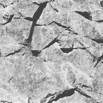 Vecteur de roches modernes pierres noir blanc monochrome demi-teinte abstrait décoration réaliste texture de fond