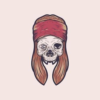 Vecteur de rock crâne