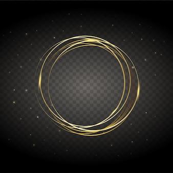 Vecteur rond bannière de cercle brillant cadre.