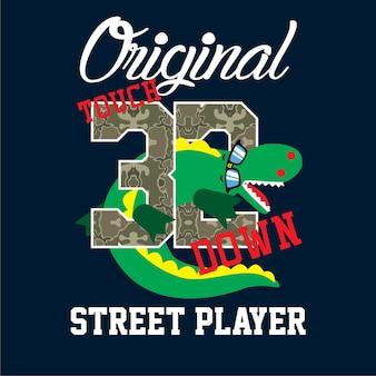 Vecteur de rue typographie t shirt design vecteur