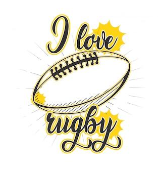Vecteur de rugby pour la conception de t-shirt