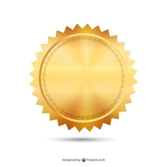 Vecteur de sceau d'or