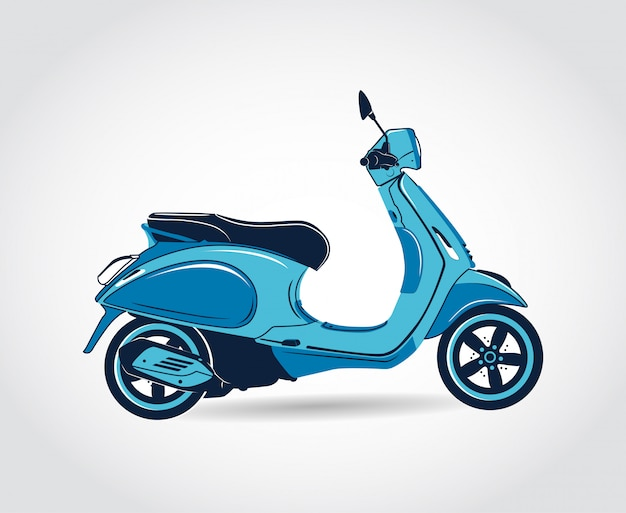 Vecteur scooter